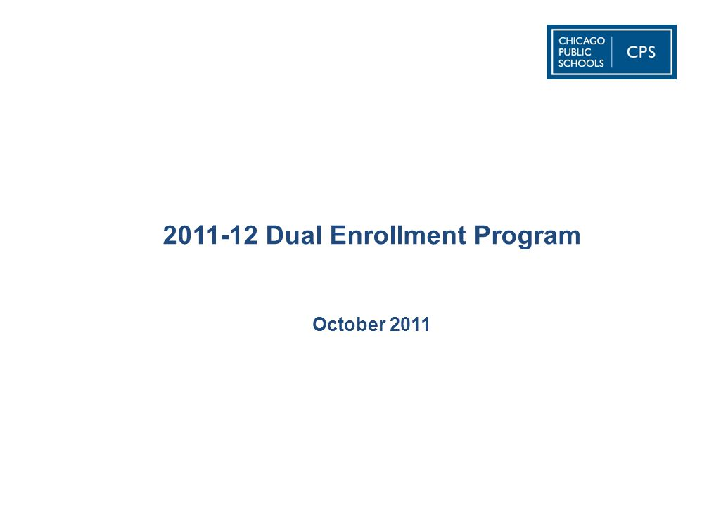2011-12 Dual Enrollment Program October 2011