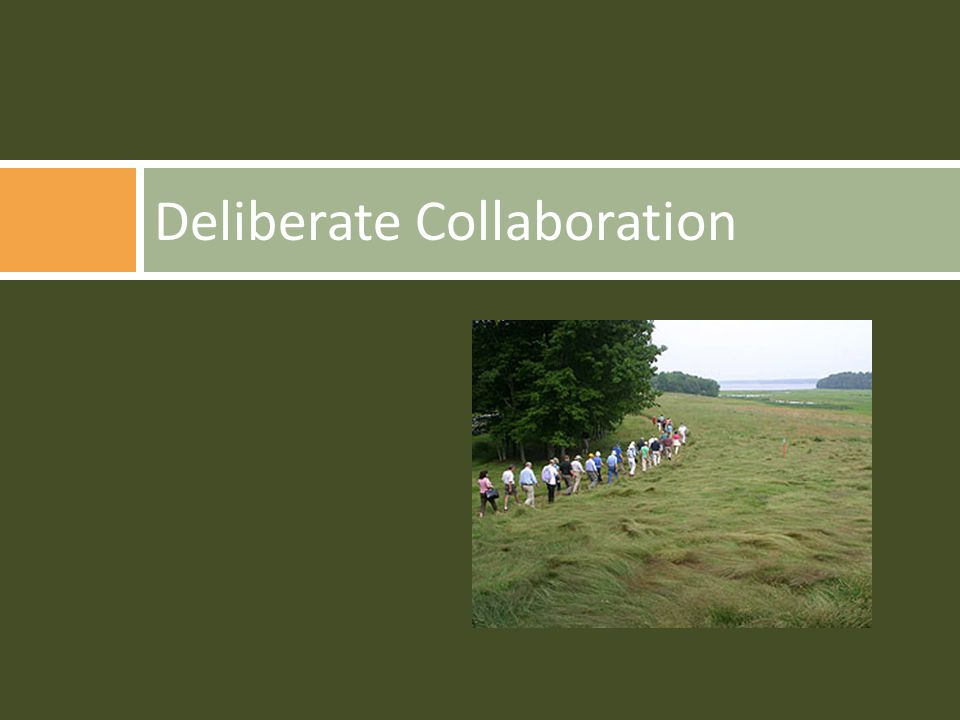 Deliberate Collaboration