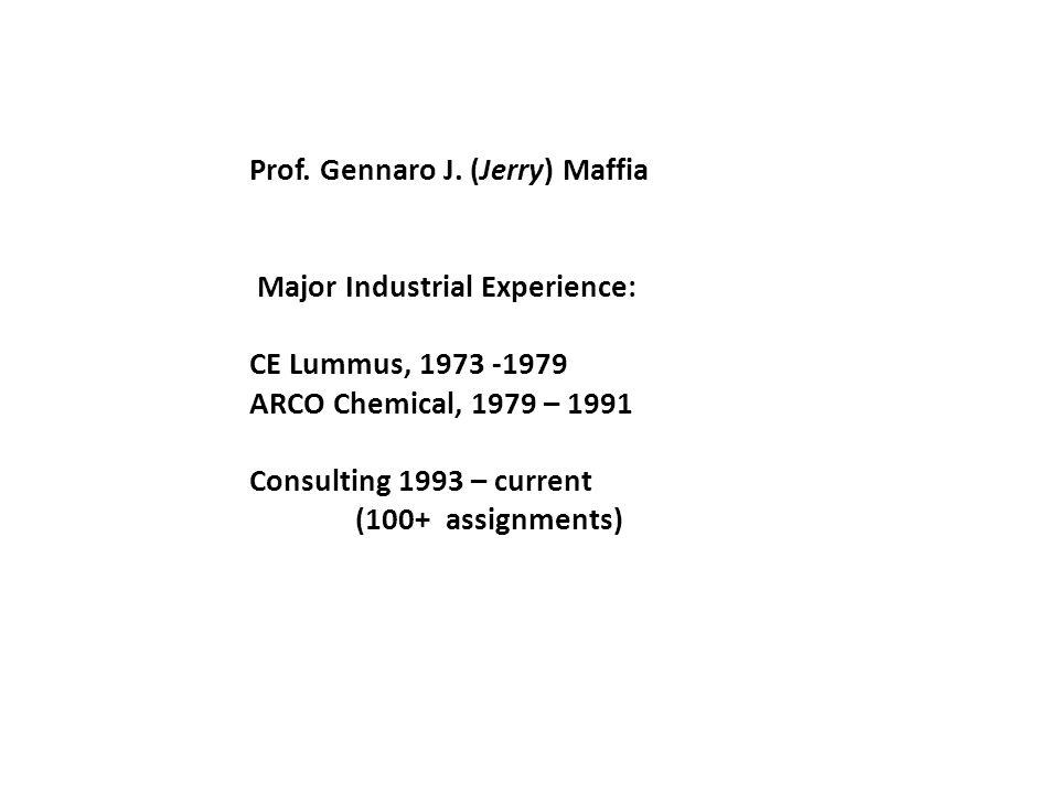Prof. Gennaro J.