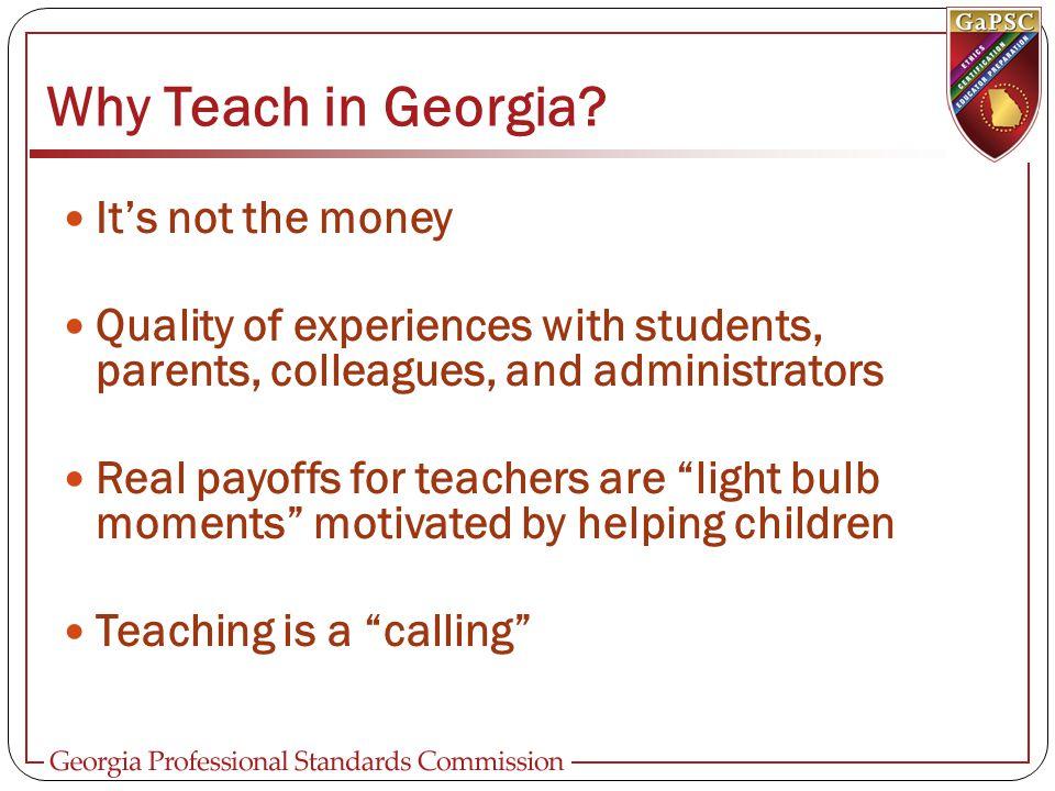 Why Teach in Georgia.