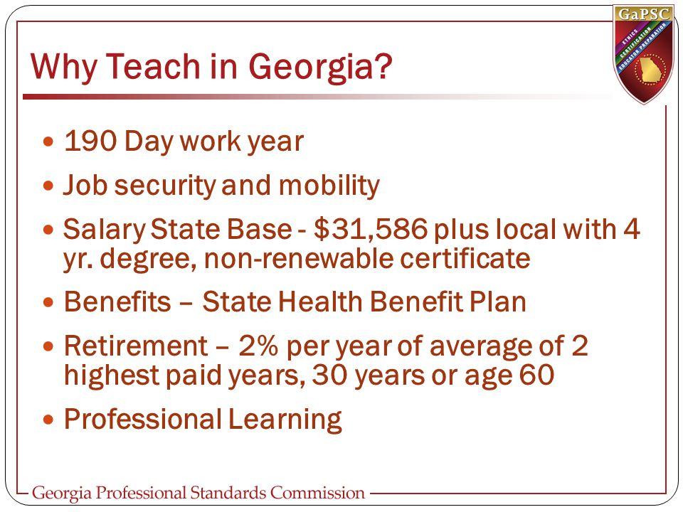 Georgia Teacher Salary Schedule