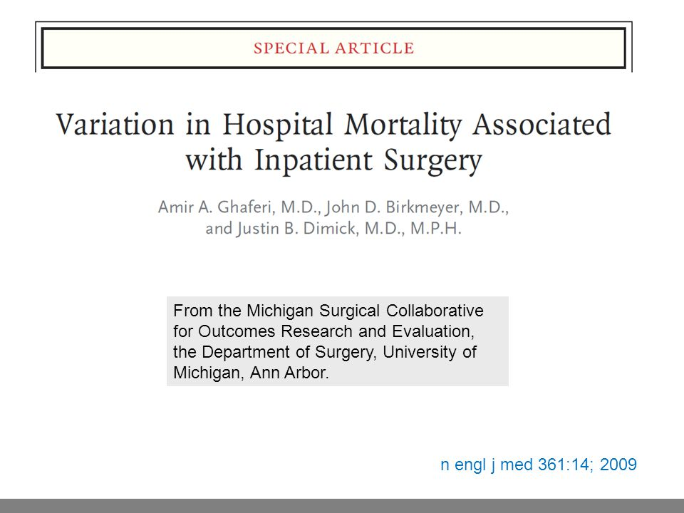 From the Michigan Surgical Collaborative for Outcomes Research and Evaluation, the Department of Surgery, University of Michigan, Ann Arbor.