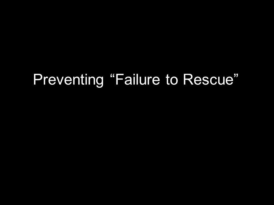 """Preventing """"Failure to Rescue"""""""