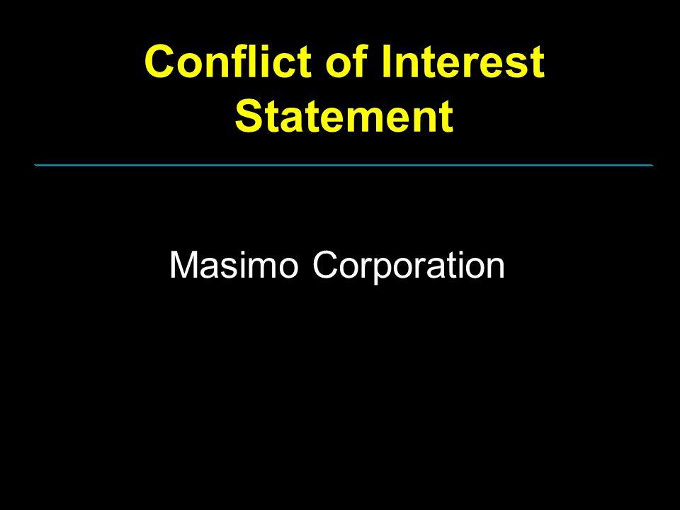 Conflict of Interest Statement Masimo Corporation
