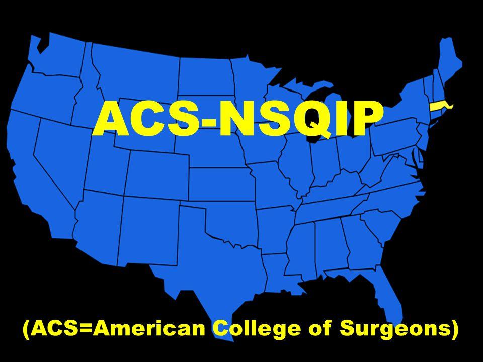 ACS-NSQIP (ACS=American College of Surgeons)