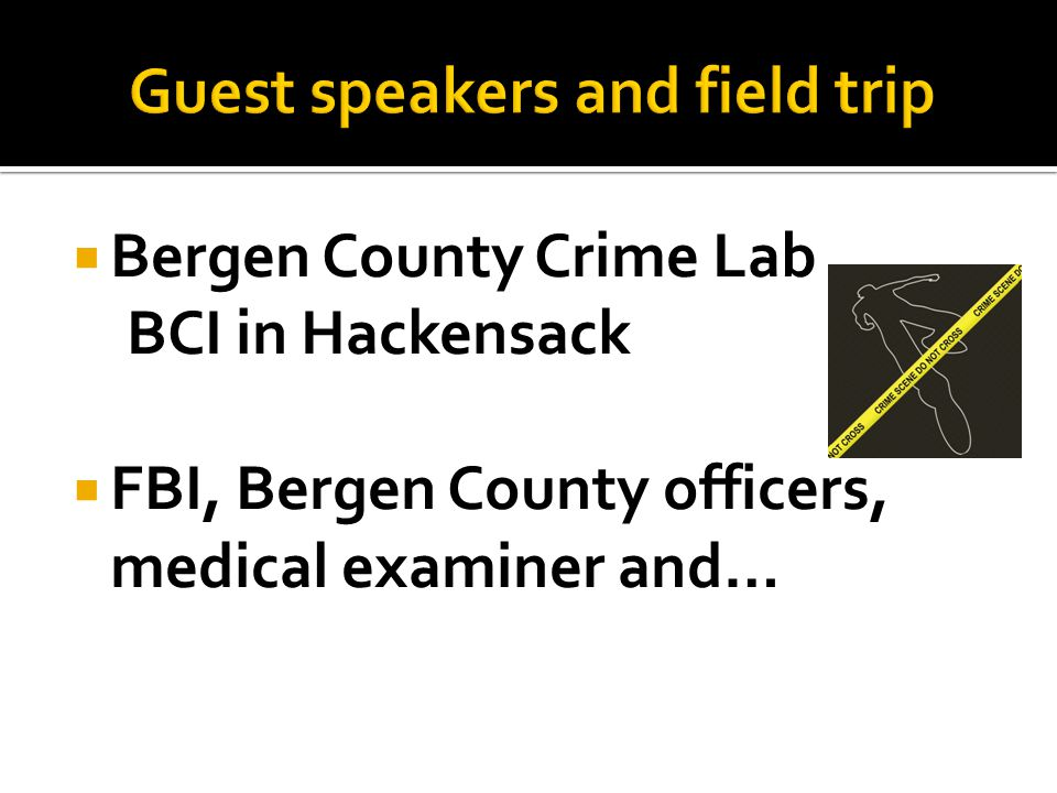  Bergen County Crime Lab BCI in Hackensack  FBI, Bergen County officers, medical examiner and…
