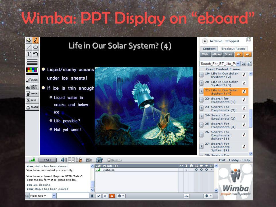 "Wimba: PPT Display on ""eboard"""