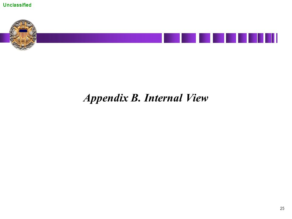 Unclassified 25 Appendix B. Internal View