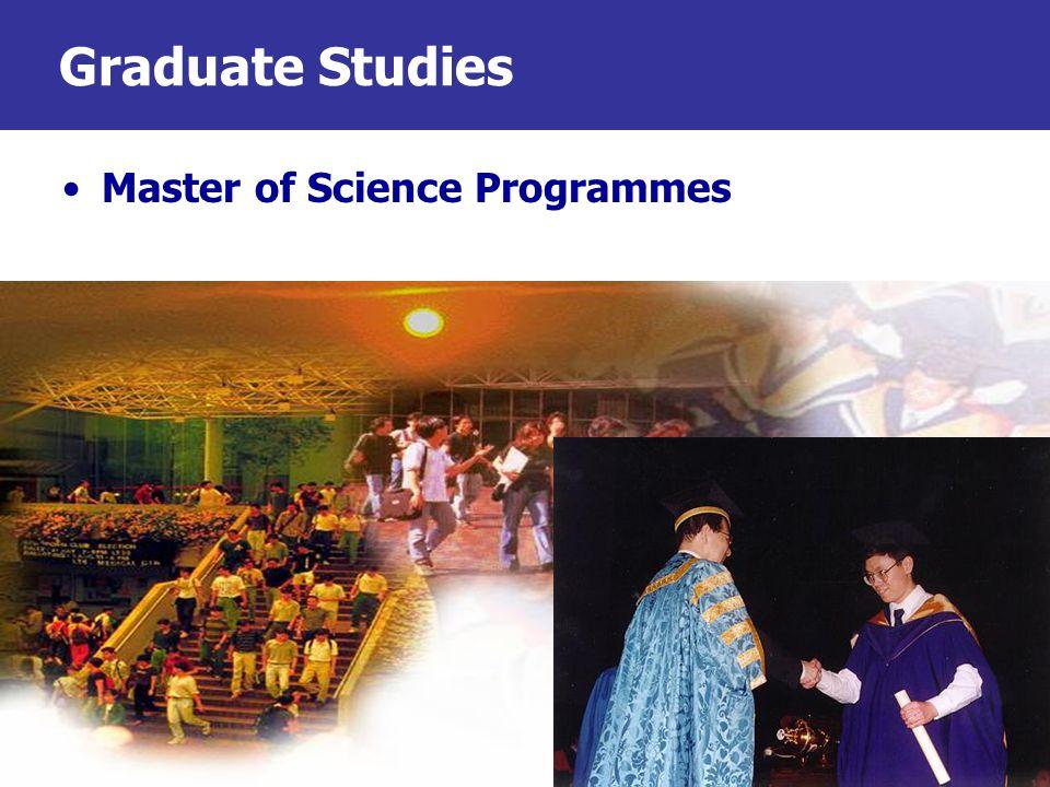 Graduate Studies Master of Science Programmes