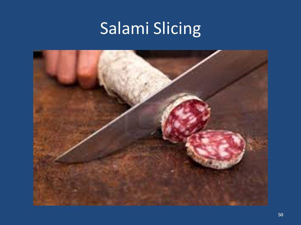 Salami Slicing 50