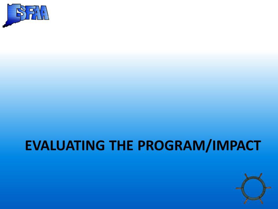 EVALUATING THE PROGRAM/IMPACT