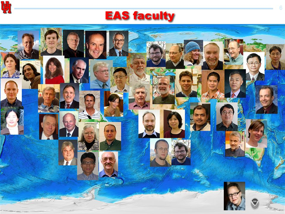 7 EAS Geophysics faculty Tenured faculty Research & adjunct faculty