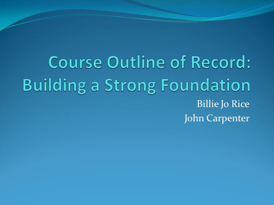 Billie Jo Rice John Carpenter