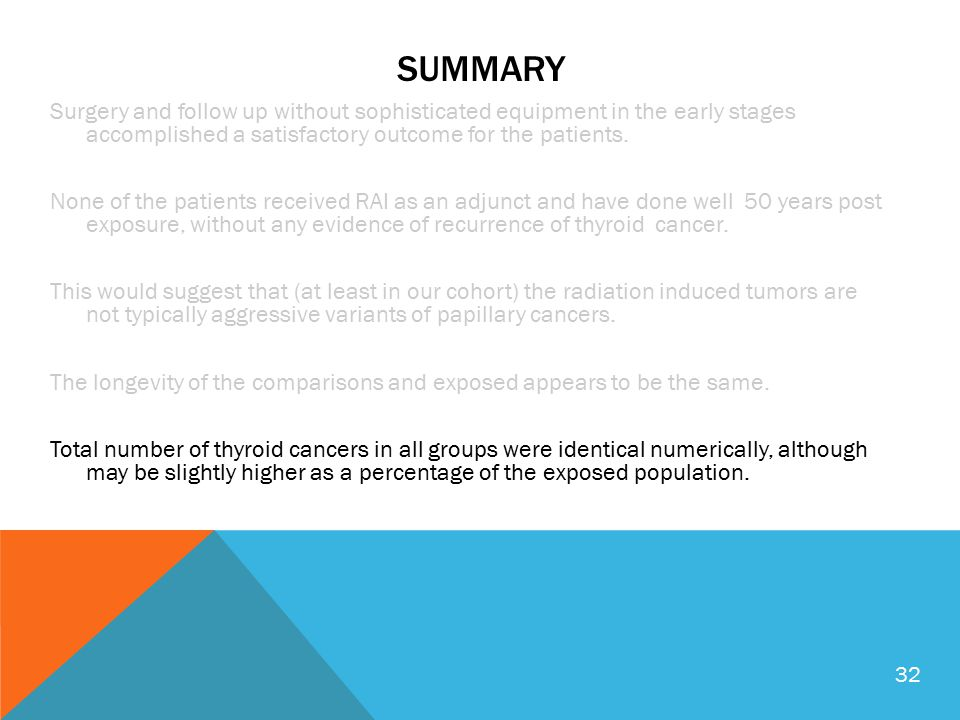 SUMMARY Surgery and follow up without sophisticated equipment in the early stages accomplished a satisfactory outcome for the patients. None of the pa