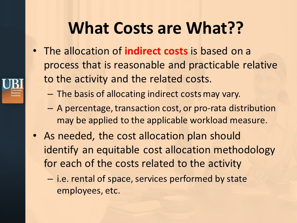 What Costs are What .