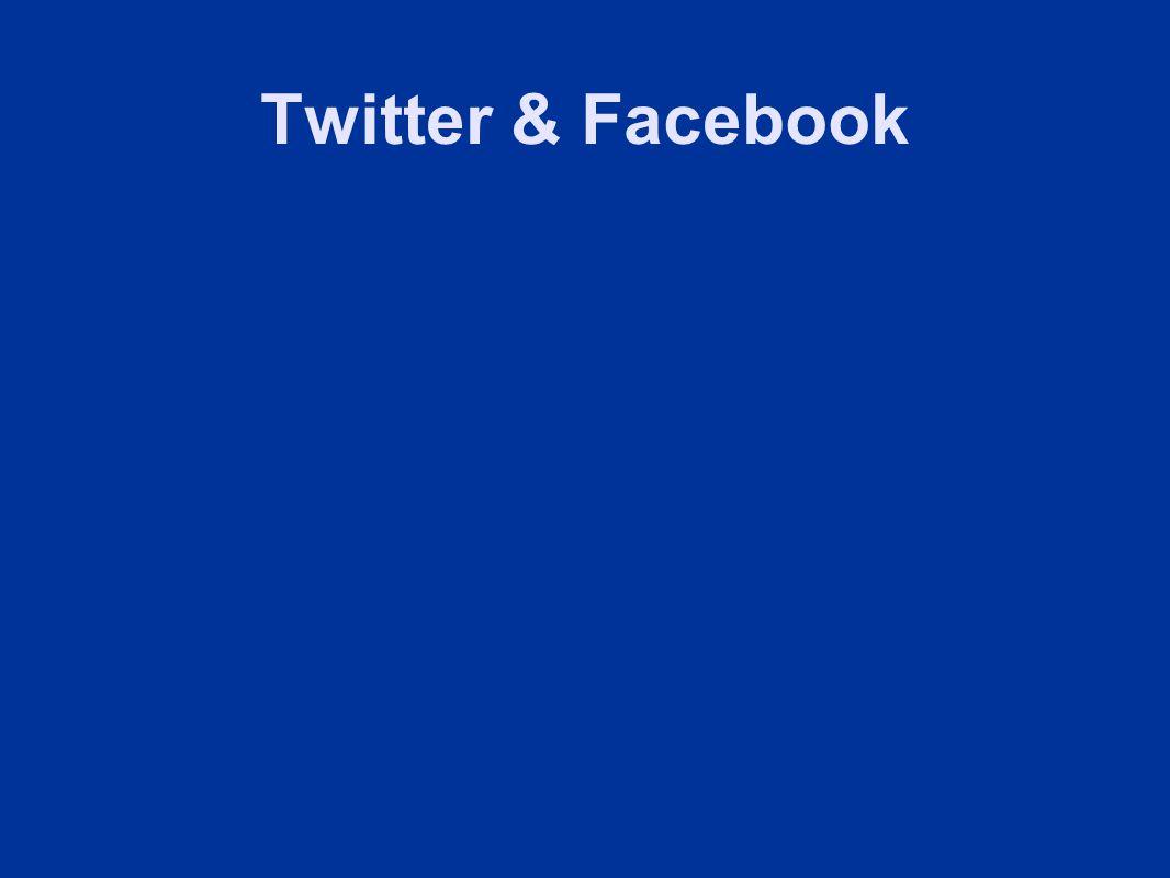 Twitter & Facebook