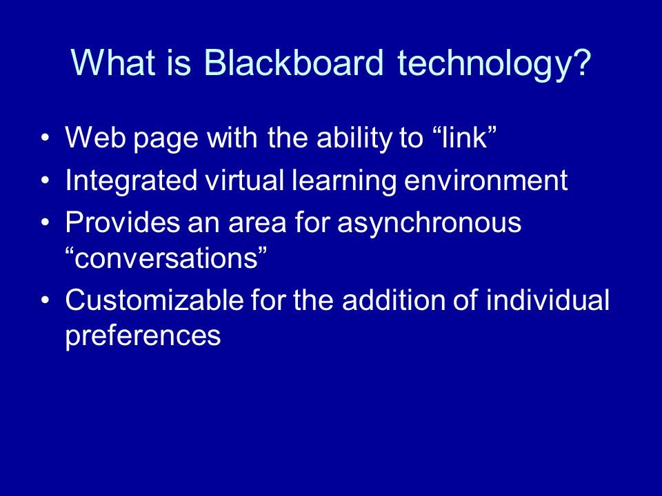 What is Blackboard technology.
