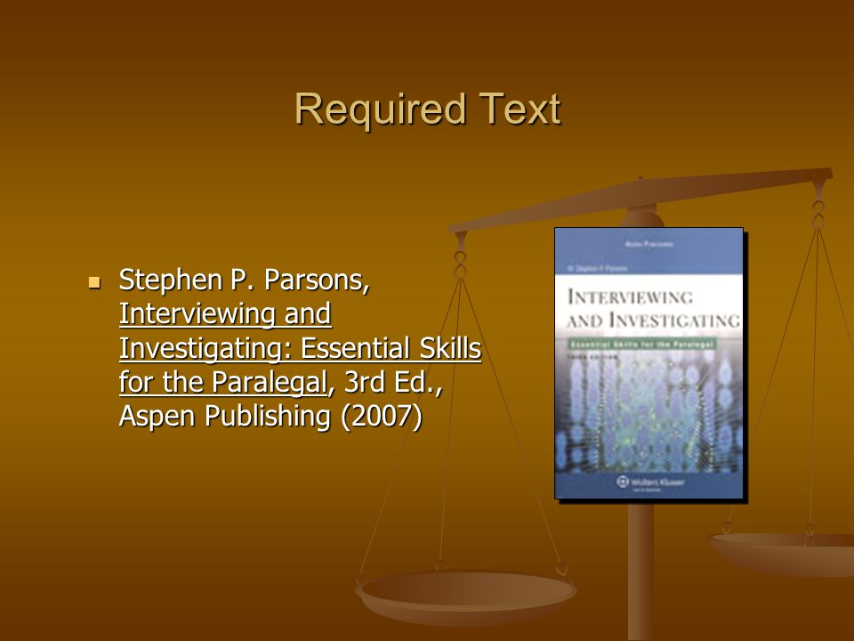 Required Text Stephen P.