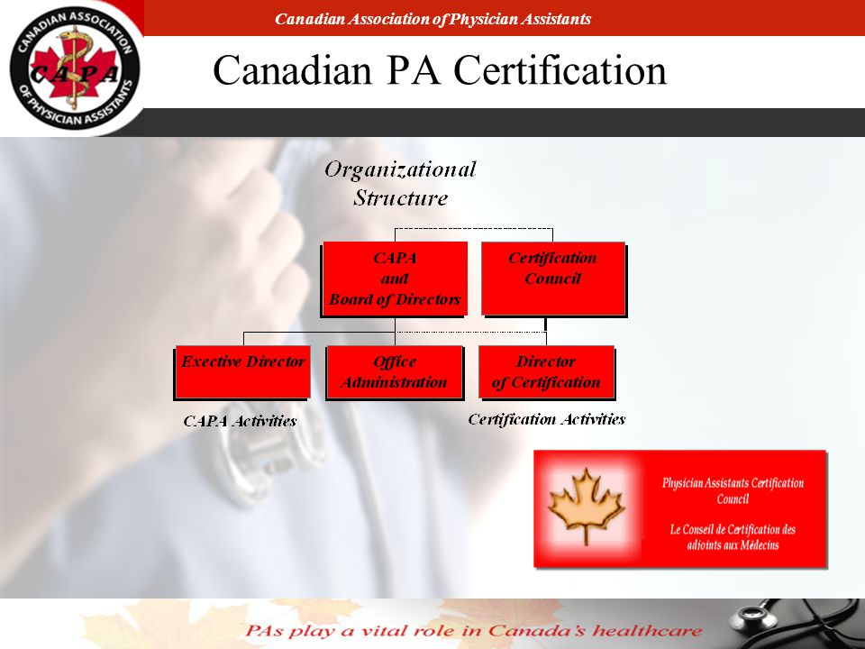 Canadian Association of Physician Assistants Canadian PA Certification