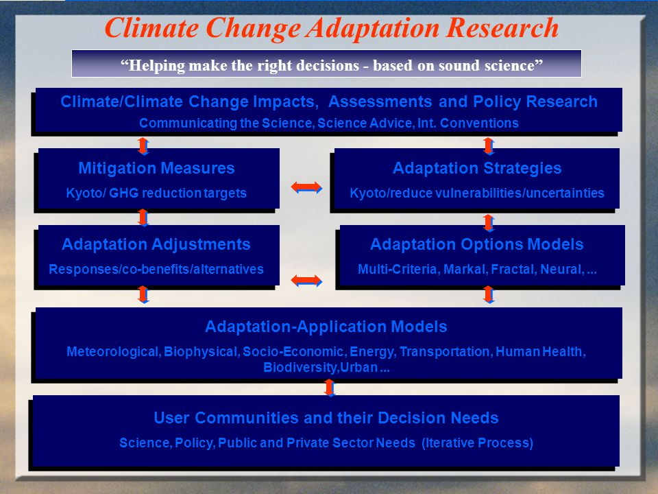 Environment Canada THE ADAPTATION CYCLE What do they adapt to (and why).