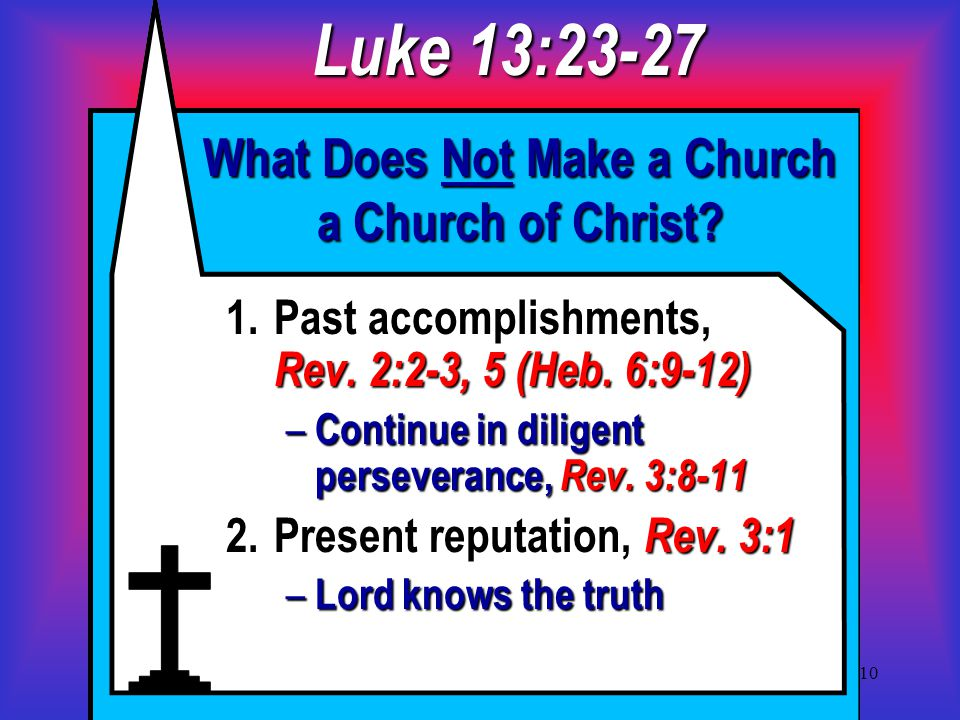 10 What Does Not Make a Church a Church of Christ.