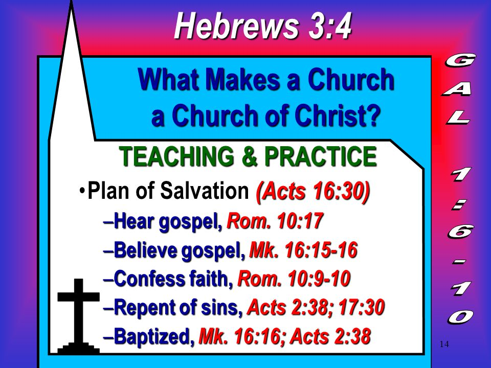 14 What Makes a Church a Church of Christ.