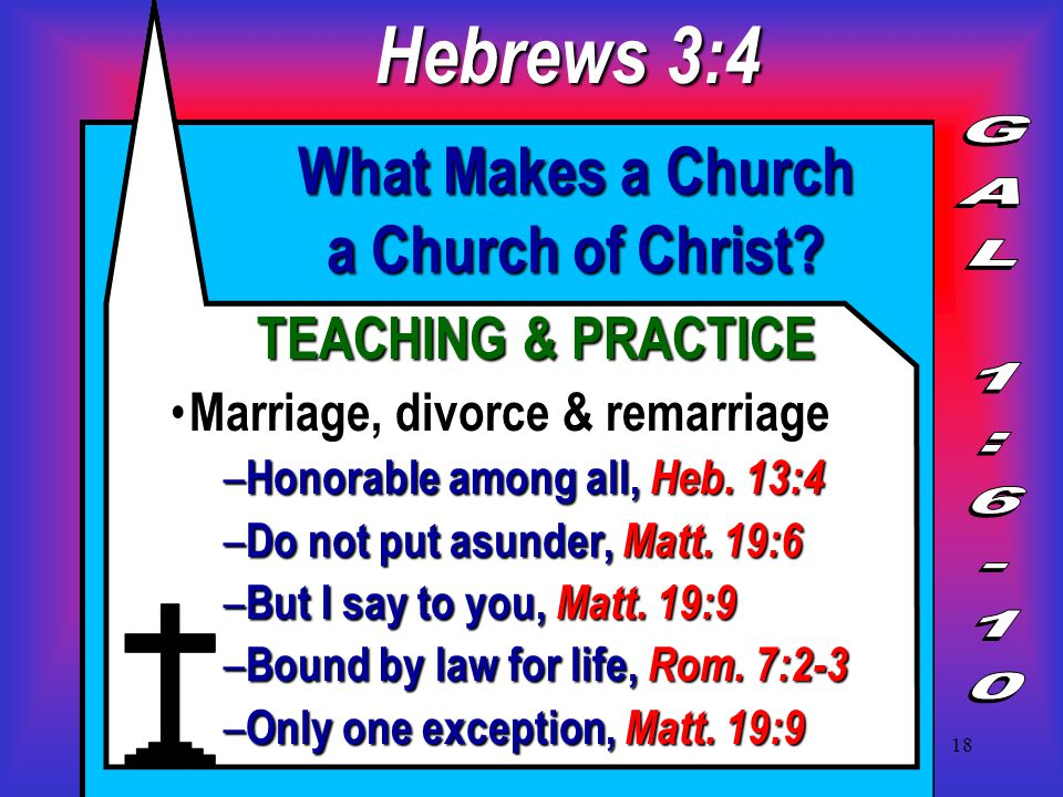 18 What Makes a Church a Church of Christ.