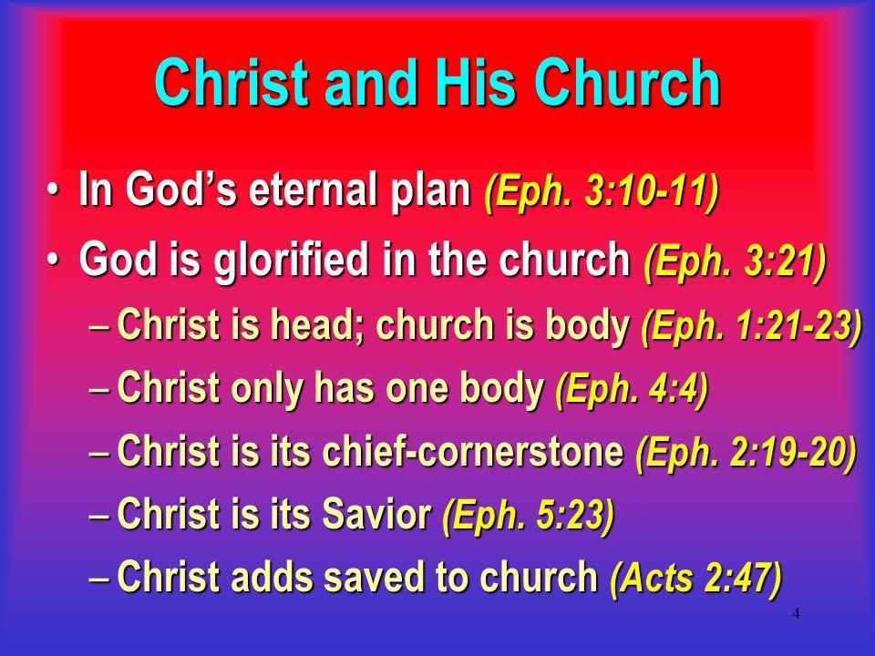 5 CHURCH OF CHRIST Universal Mt.16:18; Heb. 12:23 Eph.