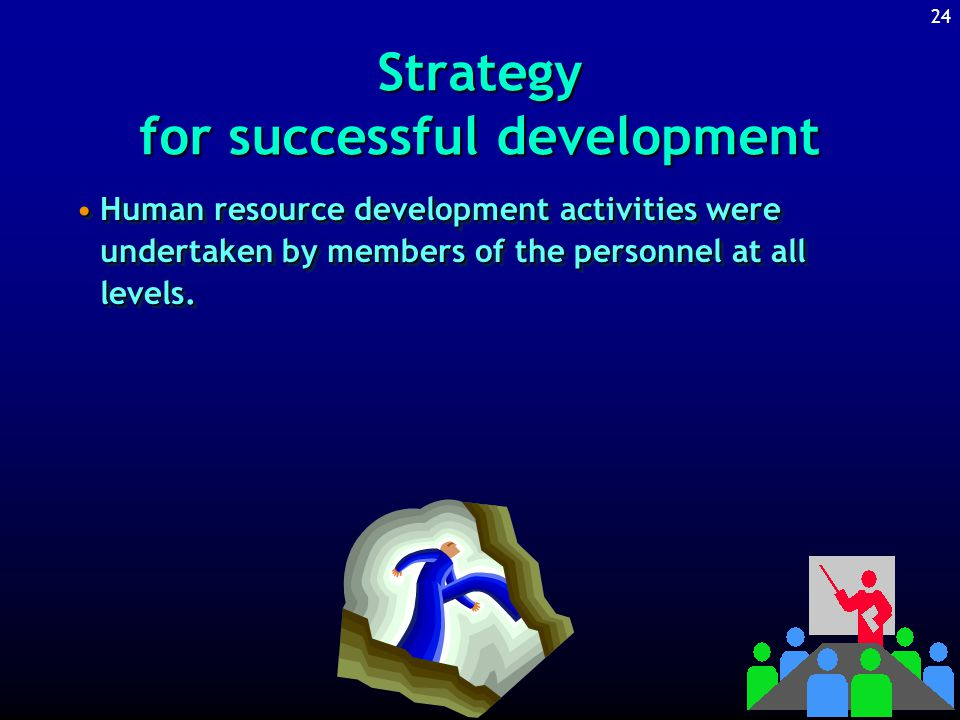 23 Strategy for successful development The project includes human resource development as well as technological development.The project includes human resource development as well as technological development.