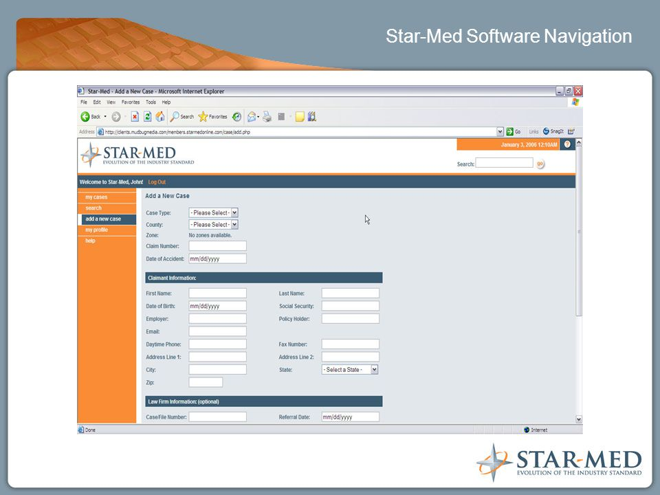 Star-Med Software Navigation