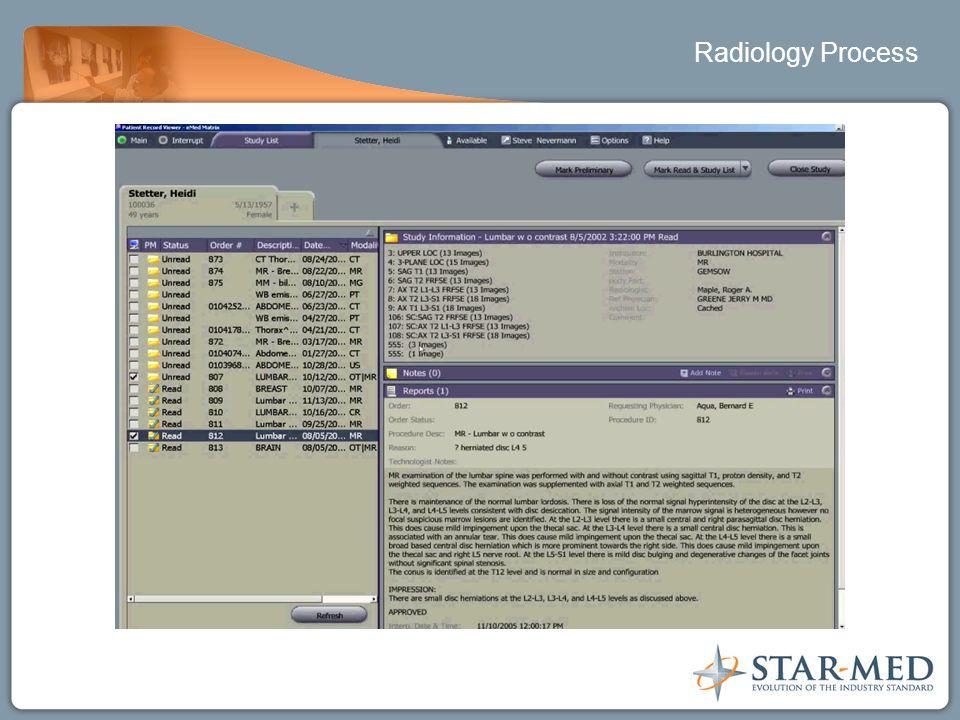 Radiology Process