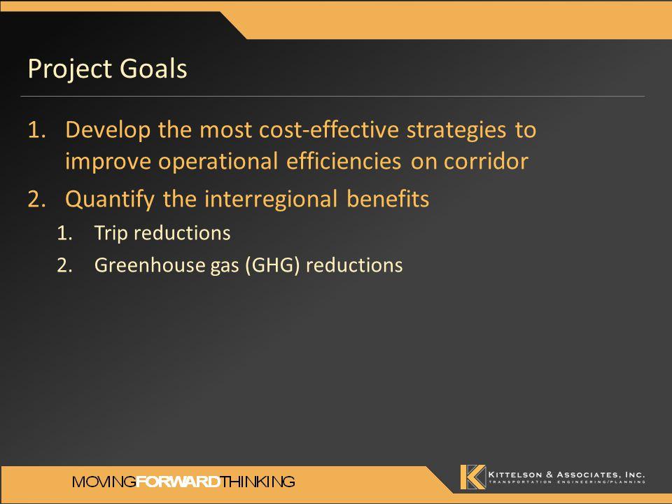 Trip Reductions: Interregional Benefits Deficient lane miles of I-580 (Peak direction, 2035)
