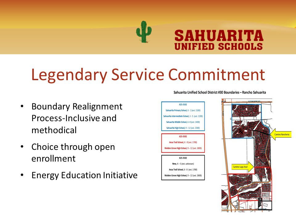 Legendary Service Commitment Boundary Realignment Process-Inclusive and methodical Choice through open enrollment Energy Education Initiative