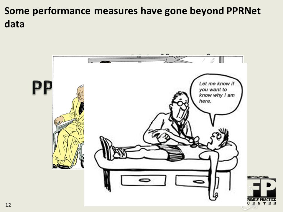 12 Some performance measures have gone beyond PPRNet data