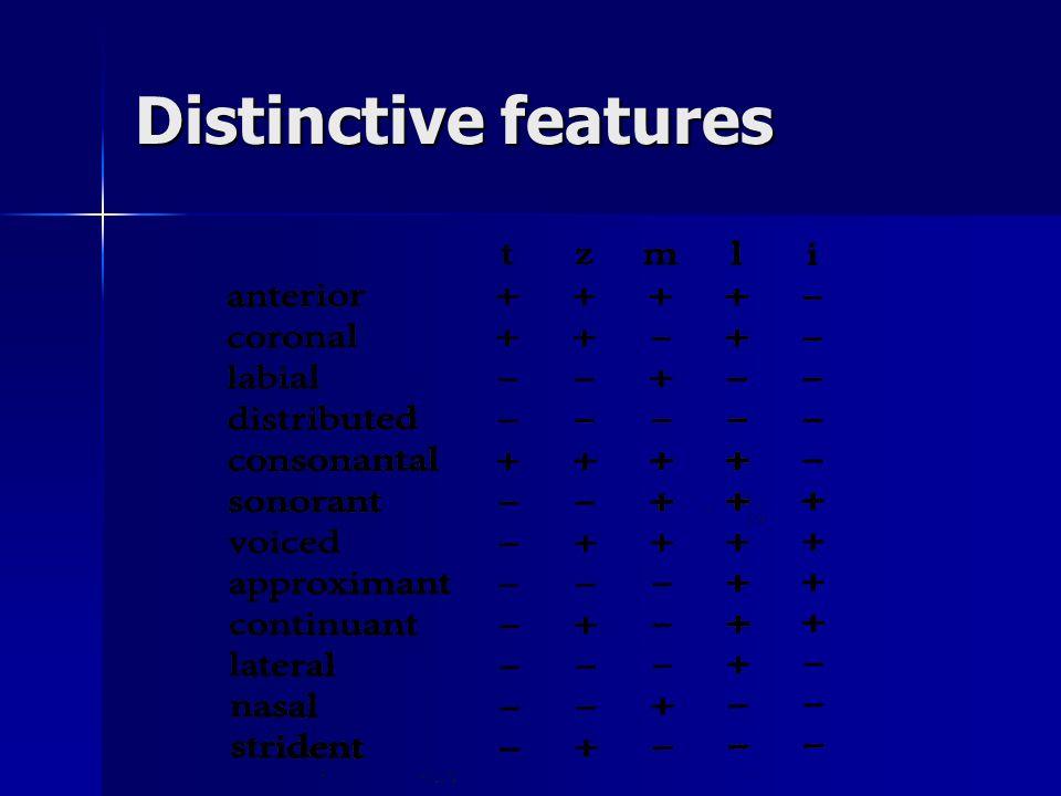 Distinctive features