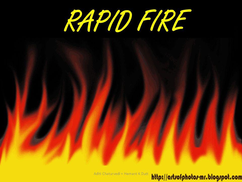 RAPID FIRE Aditi Chaturvedi + Hemant K Dutt