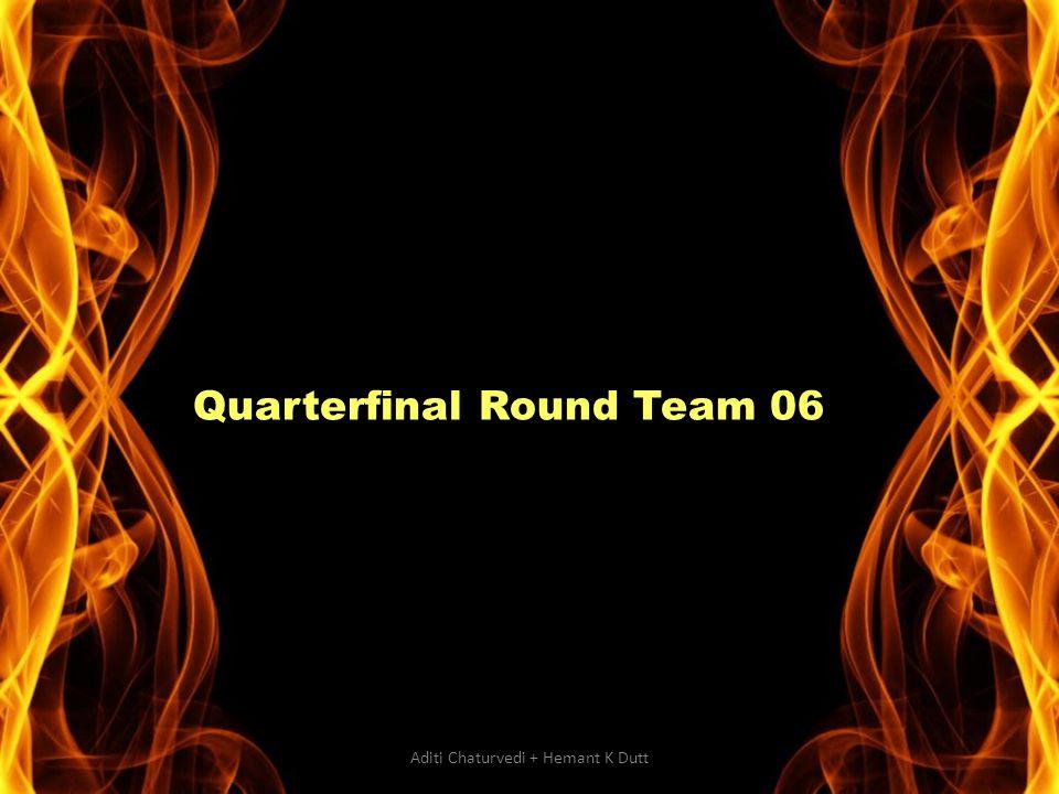 Quarterfinal Round Team 06 Aditi Chaturvedi + Hemant K Dutt