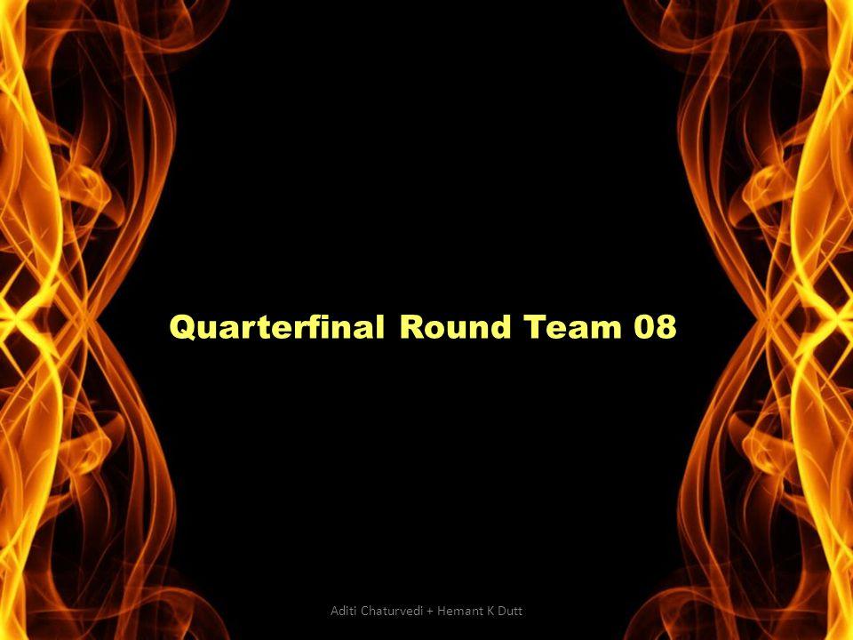 Quarterfinal Round Team 08 Aditi Chaturvedi + Hemant K Dutt