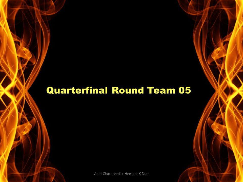Quarterfinal Round Team 05 Aditi Chaturvedi + Hemant K Dutt