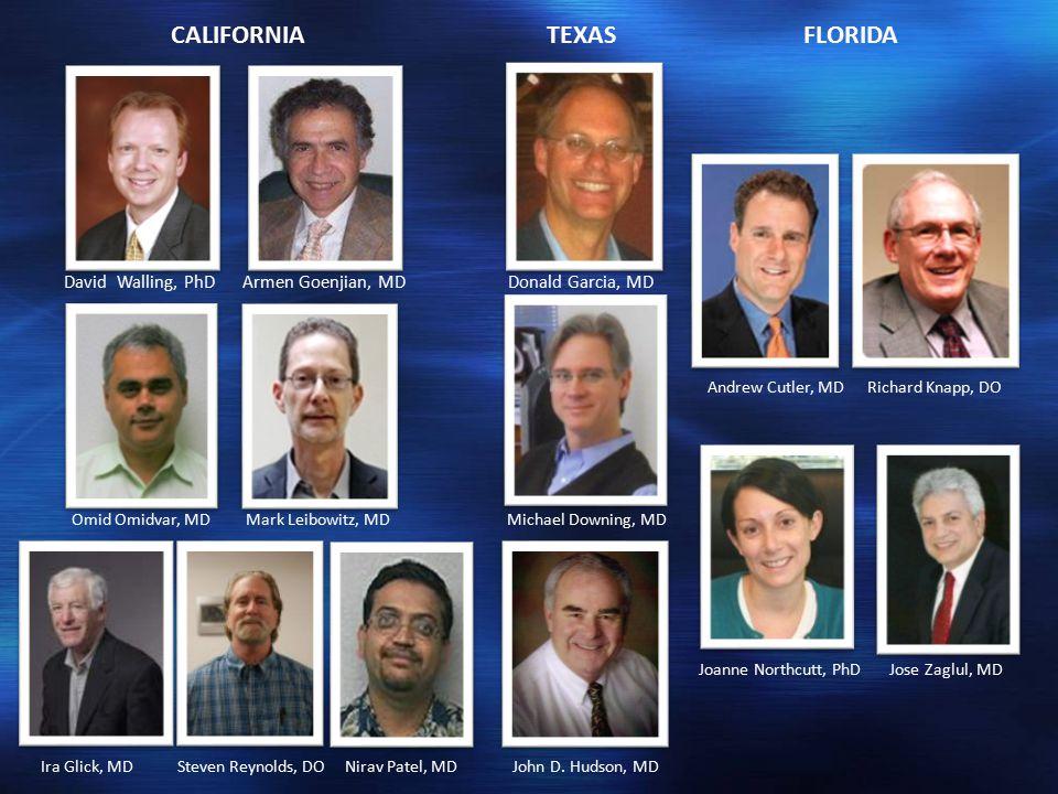 David Walling, PhD Armen Goenjian, MD Donald Garcia, MD Omid Omidvar, MD Mark Leibowitz, MD Michael Downing, MD Ira Glick, MD Steven Reynolds, DO Nirav Patel, MD John D.