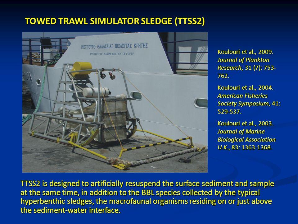TOWED TRAWL SIMULATOR SLEDGE (TTSS2) Koulouri et al., 2009. Journal of Plankton Research, 31 (7): 753- 762. Koulouri et al., 2004. American Fisheries