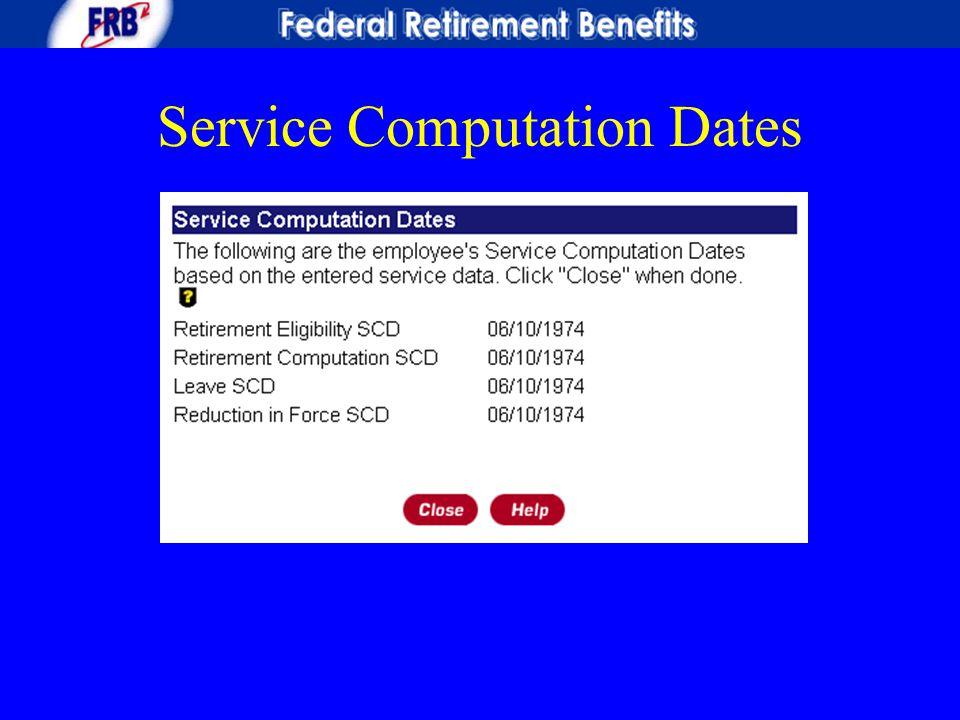 Service Computation Dates