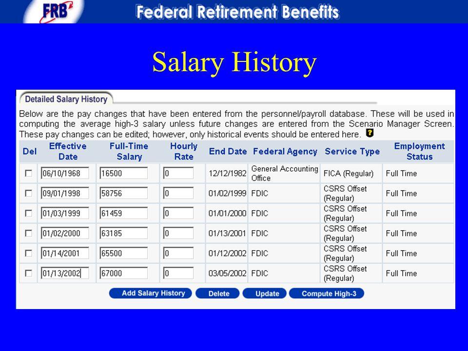 Salary History