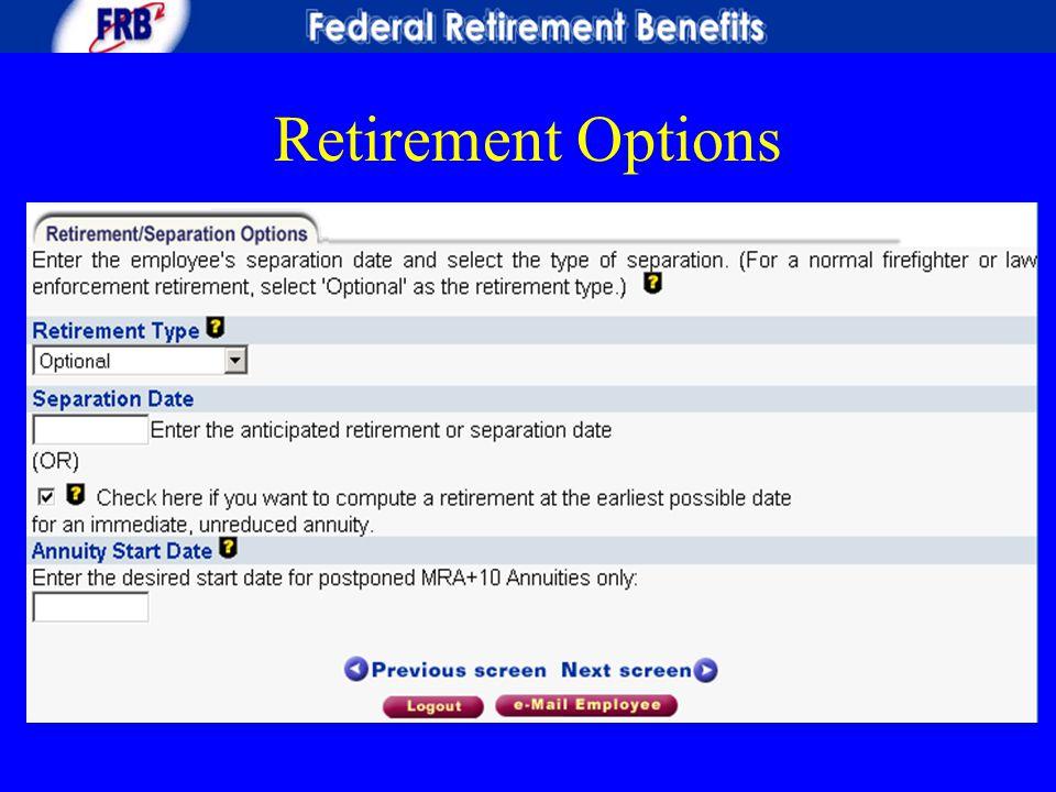 Retirement Options