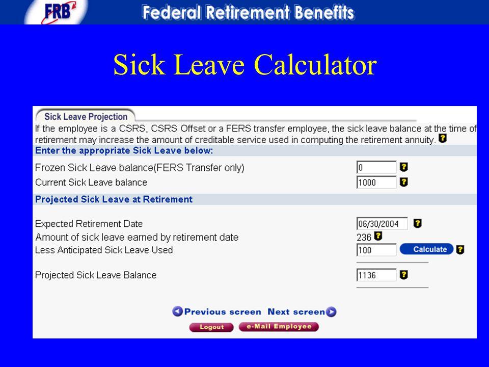 Sick Leave Calculator