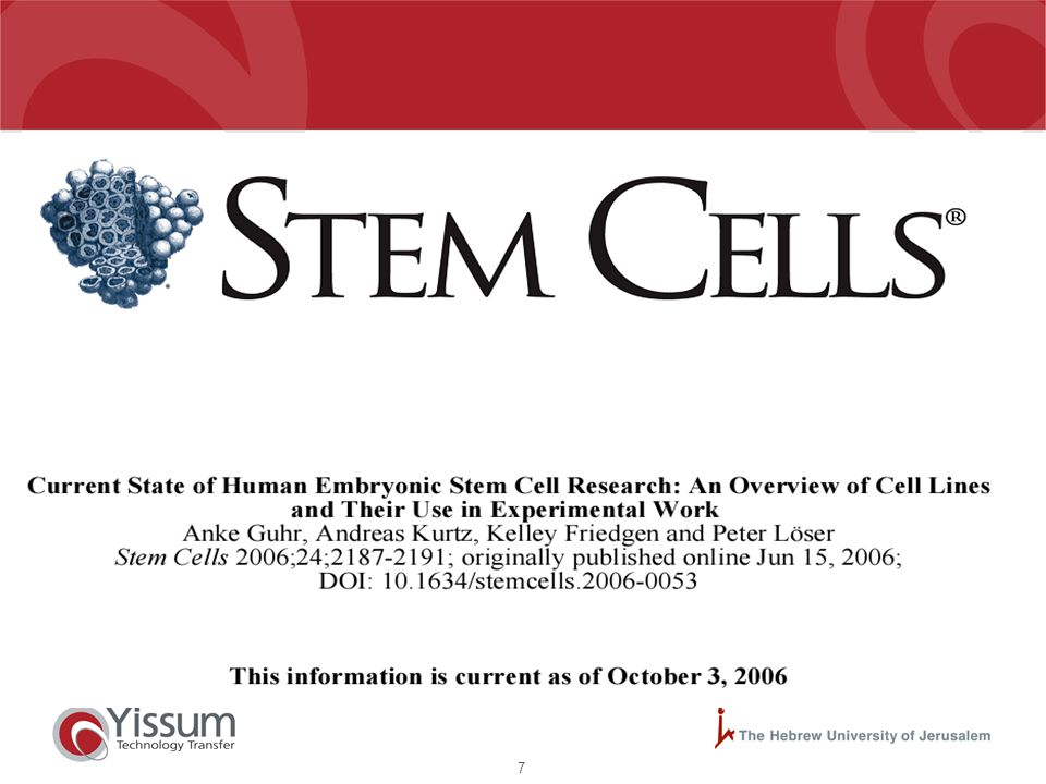8 Top 20 Most Frequently Cited Papers Stem Cells 1998-2004