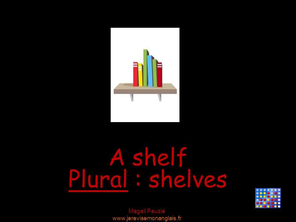 Magali Pauzié www.jerevisemonanglais.fr A shelf Plural : shelves