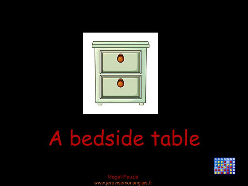 Magali Pauzié www.jerevisemonanglais.fr A bedside table