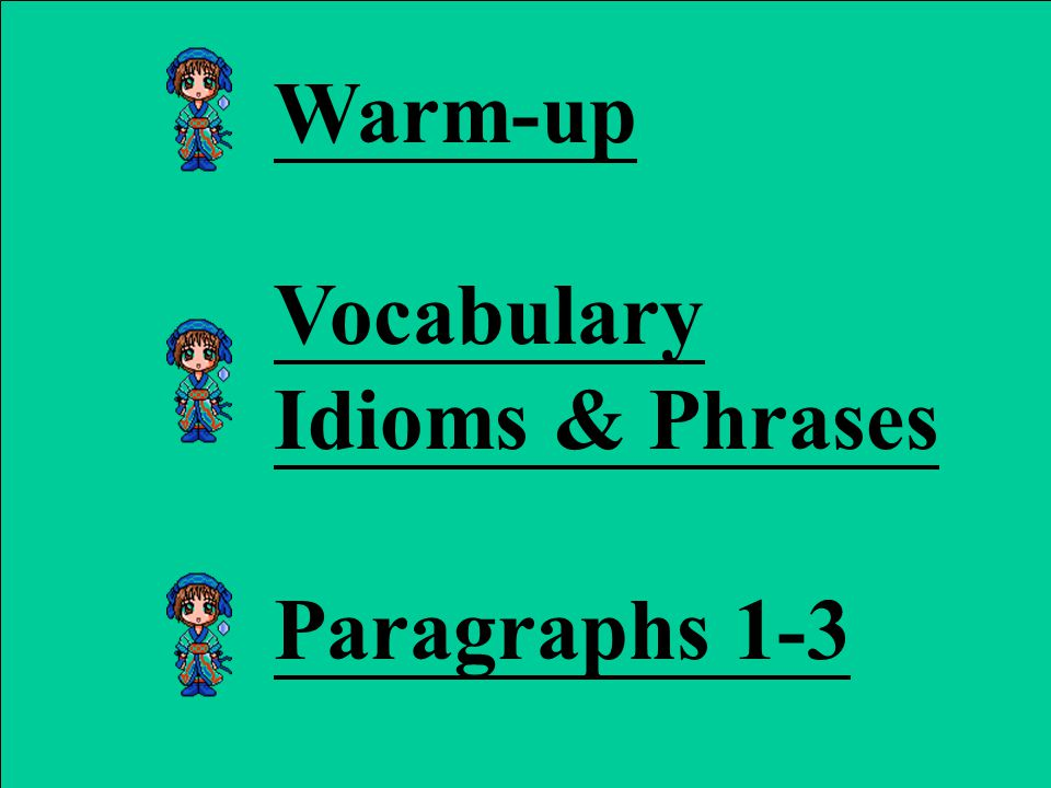 Teaching Activities 1st period 1. Warm-upWarm-up 2.