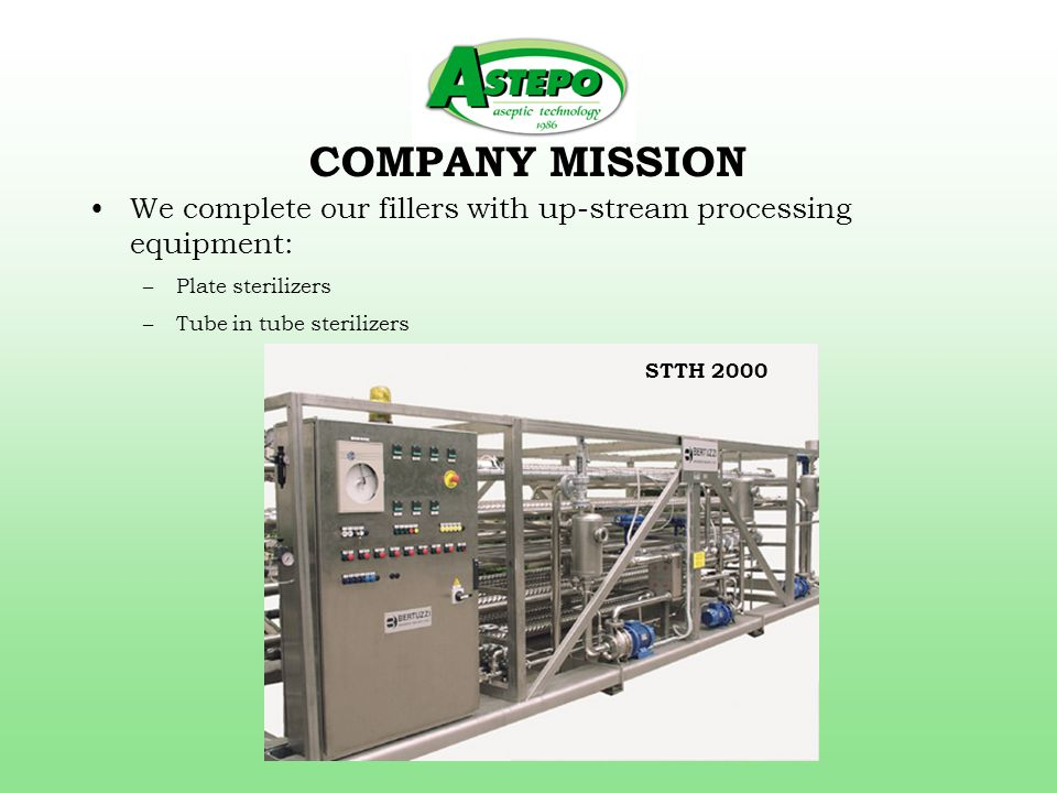 COMPANY MISSION –SSHE pasteurizers